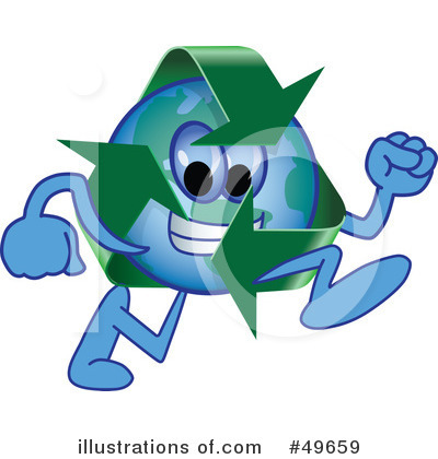 Recycle Mascot Clipart #49659 by Toons4Biz