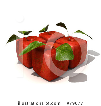 Red Apples Clipart #79077 by Frank Boston