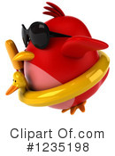 Red Bird Clipart #1235198 by Julos