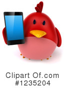 Red Bird Clipart #1235204 by Julos