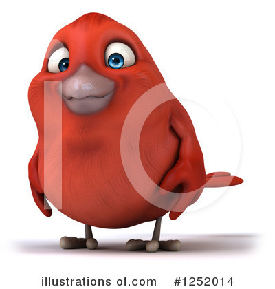 Red Bird Clipart #1252014 by Julos