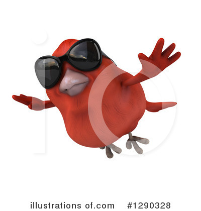 Red Bird Clipart #1290328 by Julos