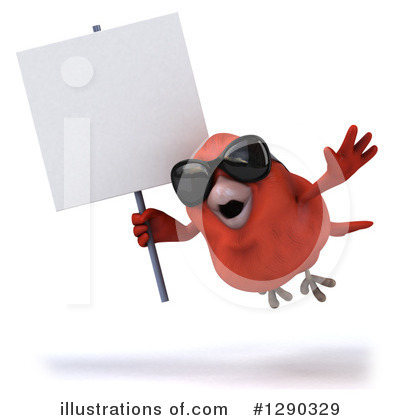 Red Bird Clipart #1290329 by Julos