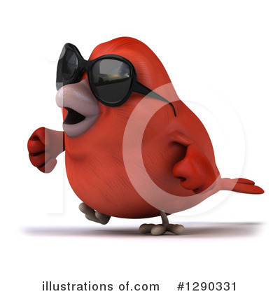 Red Bird Clipart #1290331 by Julos