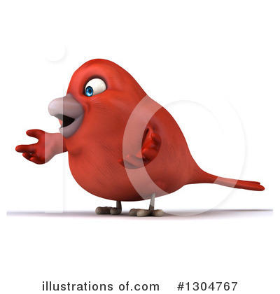 Red Bird Clipart #1304767 by Julos