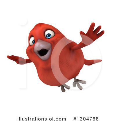 Red Bird Clipart #1304768 by Julos