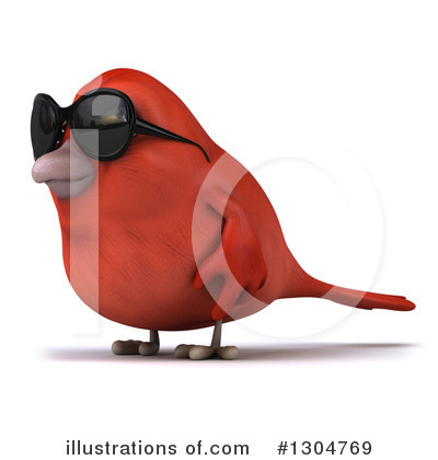 Red Bird Clipart #1304769 by Julos