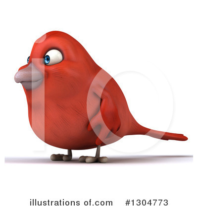 Red Bird Clipart #1304773 by Julos