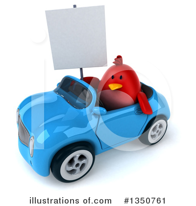 Red Bird Clipart #1350761 by Julos