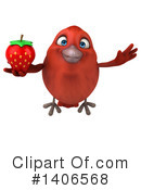 Red Bird Clipart #1406568 by Julos