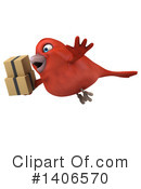 Red Bird Clipart #1406570 by Julos