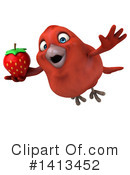 Red Bird Clipart #1413452 by Julos
