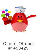 Red Bird Clipart #1493429 by Julos