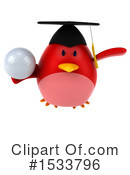 Red Bird Clipart #1533796 by Julos
