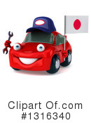 Red Car Clipart #1316340 by Julos