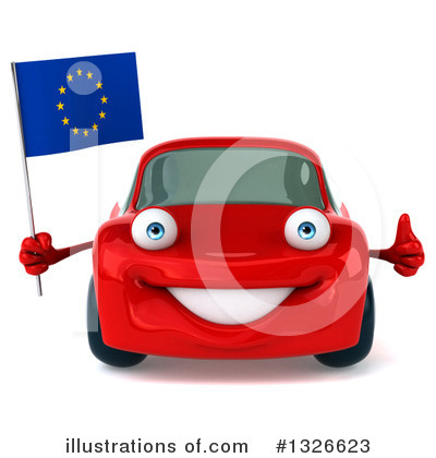 Red Porsche Clipart #1326623 by Julos