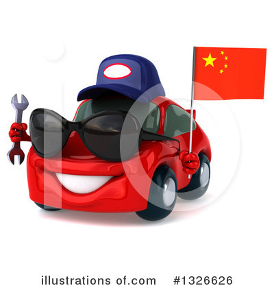 Red Porsche Clipart #1326626 by Julos