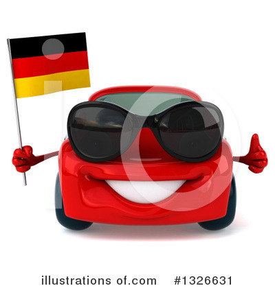 Red Porsche Clipart #1326631 by Julos