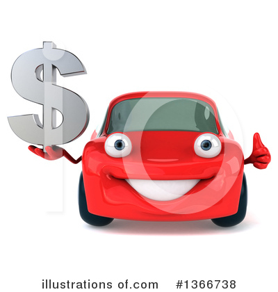 Red Porsche Clipart #1366738 by Julos
