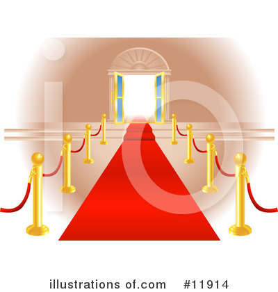 Red Carpet Clipart #11914 by AtStockIllustration