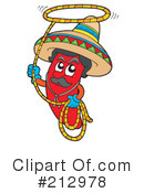 Royalty-Free (RF) red chili pepper Clipart Illustration #212978