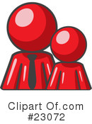 Royalty-Free (RF) Red Collection Clipart Illustration #23072