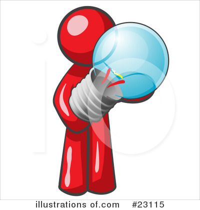 Royalty-Free (RF) Red Collection Clipart Illustration by Leo Blanchette - Stock Sample #23115