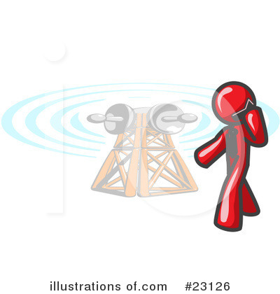 Communications Tower Clipart #23126 by Leo Blanchette