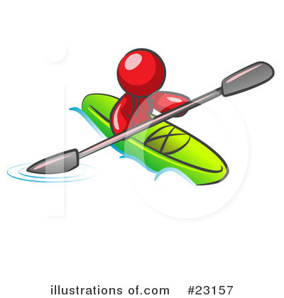 Kayaking Clipart #23157 by Leo Blanchette