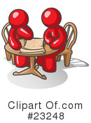 Royalty-Free (RF) Red Collection Clipart Illustration #23248