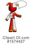 Red Design Mascot Clipart #1574427 by Leo Blanchette
