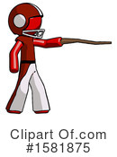 Red Design Mascot Clipart #1581875 by Leo Blanchette