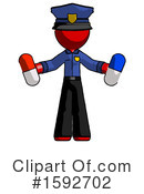 Red Design Mascot Clipart #1592702 by Leo Blanchette