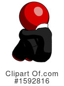 Red Design Mascot Clipart #1592816 by Leo Blanchette