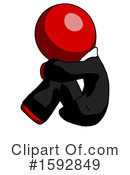 Red Design Mascot Clipart #1592849 by Leo Blanchette