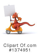 Red Dragon Clipart #1374951 by Julos
