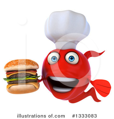 Chef Fish Clipart #1333083 by Julos