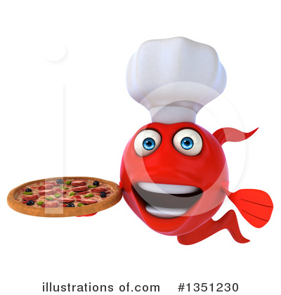 Chef Fish Clipart #1351230 by Julos