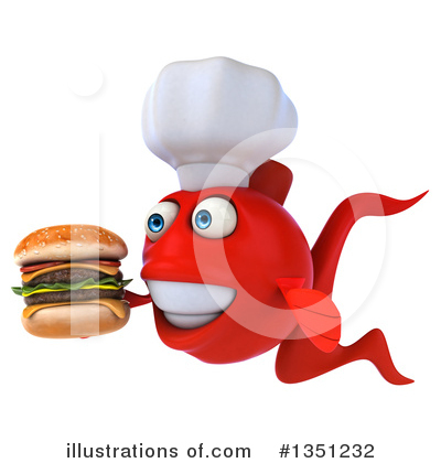 Chef Fish Clipart #1351232 by Julos
