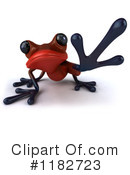 Royalty-Free (RF) Red Frog Clipart Illustration #1182723