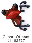 Royalty-Free (RF) Red Frog Clipart Illustration #1182727
