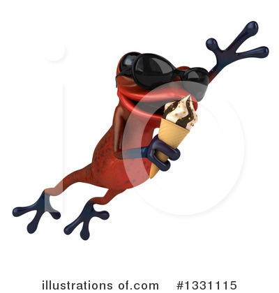 Red Frog Clipart #1331115 by Julos