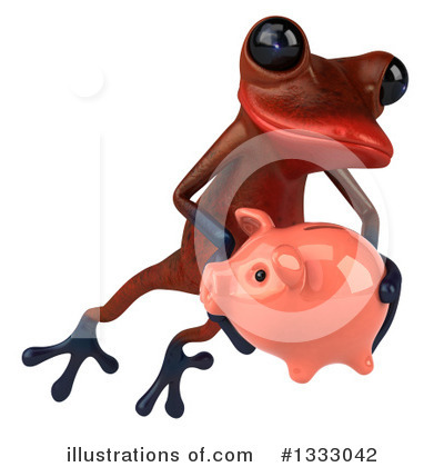 Red Frog Clipart #1333042 by Julos