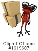 Red Frog Clipart #1619607 by Julos