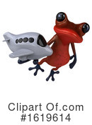 Red Frog Clipart #1619614 by Julos