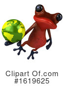 Red Frog Clipart #1619625 by Julos