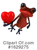 Red Frog Clipart #1629275 by Julos