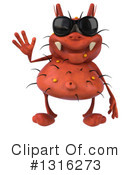 Red Germ Clipart #1316273 by Julos