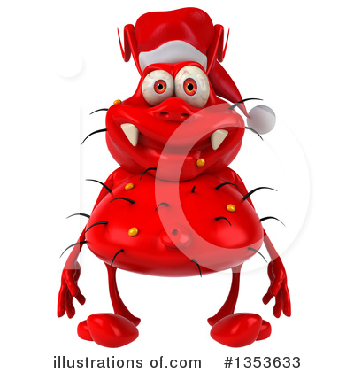 Red Virus Clipart #1353633 by Julos