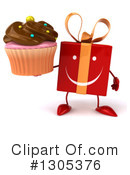 Red Gift Character Clipart #1305376 by Julos